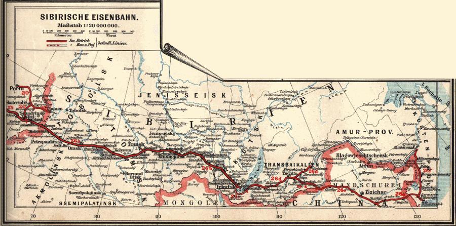 Transsib Karte 1897